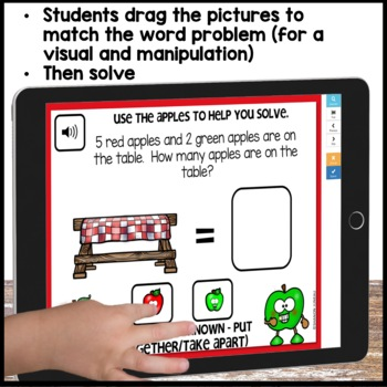 COMMON CORE MATH ASSESSMENT 1.OA.A.1 TOTAL UNKNOWN | BOOM CARDS