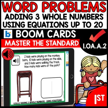 COMMON CORE MATH ASSESSMENT 1.OA.A.2 USING EQUATIONS | BOOM CARDS