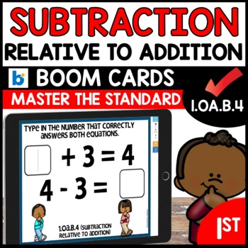 COMMON CORE MATH ASSESSMENT 1.OA.B.4    BOOM CARDS