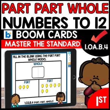 COMMON CORE MATH ASSESSMENT 1.OA.B.4 PART-PART-WHOLE | BOOM CARDS