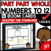 Part Part Whole Addition and Subtraction Boom Cards 1.OA.B.4