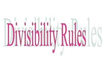 DIVISIBILITY RULES FOR 4TH-6TH GRADES: COMMON CORE MATH