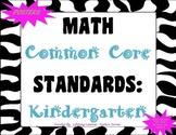 COMMON CORE MATH Posters (Kindergarten)