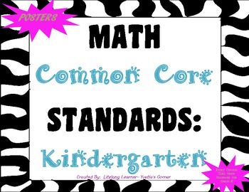 COMMON CORE MATH Posters (Kindergarten)