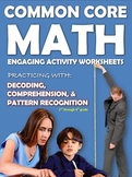 COMMON CORE MATH WORKSHEETS - 2nd & 4th grade