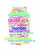 COMMON CORE MATHEMATICS - GRADE 1 - 3 WORDLE POSTERS - WHITE BACKGROUNDS