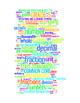 COMMON CORE MATHEMATICS - GRADE 5 - 3 WORDLE POSTERS - WHITE BACKGROUNDS