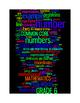 COMMON CORE MATHEMATICS - GRADE 6 - 3 WORDLE POSTERS - BLACK BACKGROUNDS