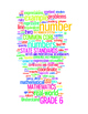 COMMON CORE MATHEMATICS - GRADE 6 - 3 WORDLE POSTERS - WHITE BACKGROUNDS