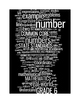 COMMON CORE MATHEMATICS - GRADE 6 - 6 WORDLE POSTERS - WHITE&BLACK BACKGROUNDS