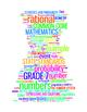 COMMON CORE MATHEMATICS - GRADE 7 - 3 WORDLE POSTERS - WHI