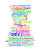 COMMON CORE MATHEMATICS - GRADE 7 - 6 WORDLE POSTERS - WHI