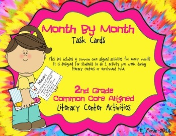 *COMMON CORE Month by Month Second Grade Task Cards
