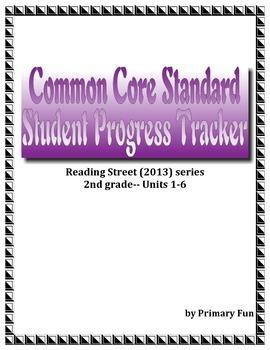 PROGRESS MONITORING/TRACKER SHEETS with CCS (2nd Grade Reading Street)