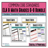 Common Core Documentation Checklists for ELA and Mathematics - Grades 6, 7, 8