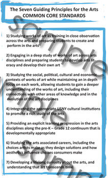 COMMON CORE STANDARDS The Seven Guiding Principles for the Arts Poster