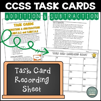 3rd Grade Addition and Subtraction Task Cards Common Core