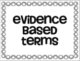 COMMON CORE: Textual Evidence and Test Taking Vocabulary Words