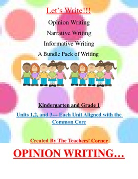 Common Core Writing: Let's Write!!! A Bundle Pack of Writi