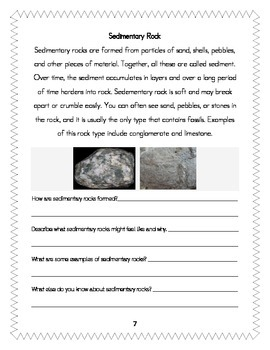 W.1.5 COMMON CORE informational writing integrated with rocks... packet