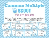 COMMON MULTIPLE SCOOT: 24 Multiple Choice Test Prep Cards