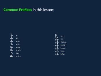 COMMON PREFIXES - Part I
