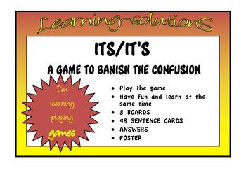 COMMONLY CONFUSED WORDS - GAME  its-it's