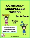 COMMONLY MISSPELLED WORDS ... Cut & Paste Worksheets ... Gr. 2-3
