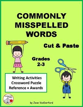 COMMONLY MISSPELLED WORDS ... Cut & Paste Worksheets ... Gr. 2-3
