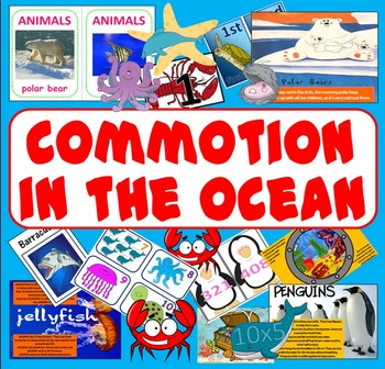 COMMOTION IN THE OCEAN STORY  RESOURCES -ANIMALS SEALIFE R