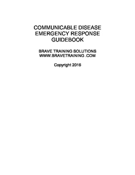 COMMUNICABLE DISEASES FOR FIRST RESPONDERS WHAT TO KNOW IN