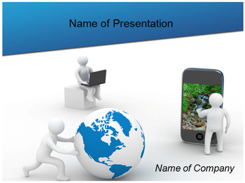 COMMUNICATION TECHNOLOGY POWERPOINT TEMPLATE