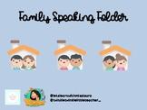 COMMUNICATIVE SPEAKING FOLDER - MY FAMILY