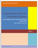 COMMUNICATIVE TASKS FOR ELEMENTARY STUDENTS