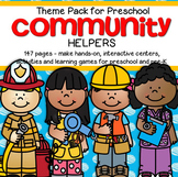COMMUNITY HELPERS Centers Activities and Printables for Preschool 147 pages