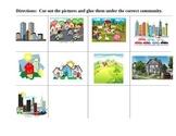 COMMUNITIES CUT and PASTE T-Chart Suburban Rural Urban