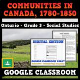 COMMUNITIES IN CANADA, 1780-1850 - Ontario Grade 3 - GOOGLE CLASSROOM