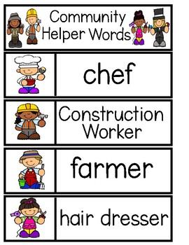 COMMUNITY HELPER Word Cards {Capital & Lowercase}