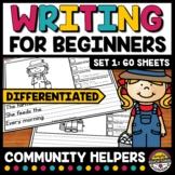 COMMUNITY HELPERS 1ST GRADE 2ND PICTURE WRITING PROMPT SENTENCE STARTER ACTIVITY
