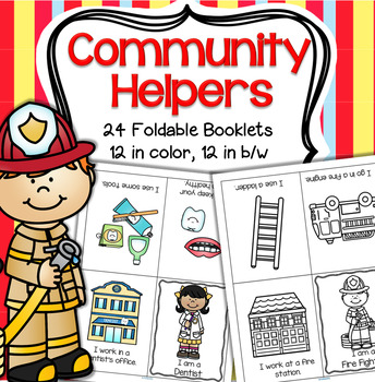 COMMUNITY HELPERS Foldable Booklets