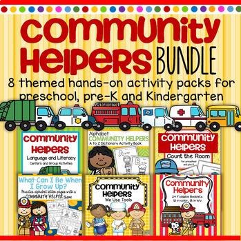 COMMUNITY HELPERS Bundle - 6 Hands-on Resources for Preschool & Kindergarten