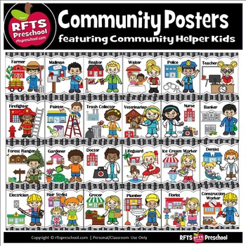 COMMUNITY HELPERS CLASSROOM POSTERS