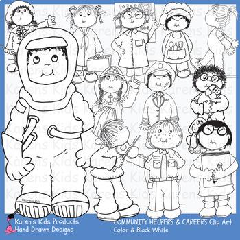 Clip Art COMMUNITY HELPERS (Karen's Kids Clip Art)
