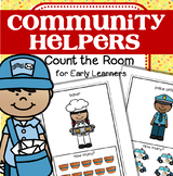 COMMUNITY HELPERS Count the Room for Preschool and Pre-K (Differentiated)