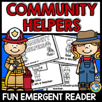 COMMUNITY HELPERS PRESCHOOL EMERGENT READER (LABOR DAY KINDERGARTEN ACTIVITIES)