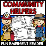 COMMUNITY HELPERS PRESCHOOL EMERGENT READER (LABOR DAY ACTIVITIES KINDERGARTEN)