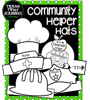 COMMUNITY HELPERS HATS...10 different helpers {Texas Twist Scribbles}