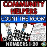 COMMUNITY HELPERS KINDERGARTEN (COMMUNITY HELPERS COUNTING TEN FRAMES)