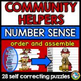 COMMUNITY HELPERS KINDERGARTEN MATH CENTER (LABOR DAY ACTI