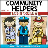 COMMUNITY HELPERS PAPER BAG PUPPETS with Activities